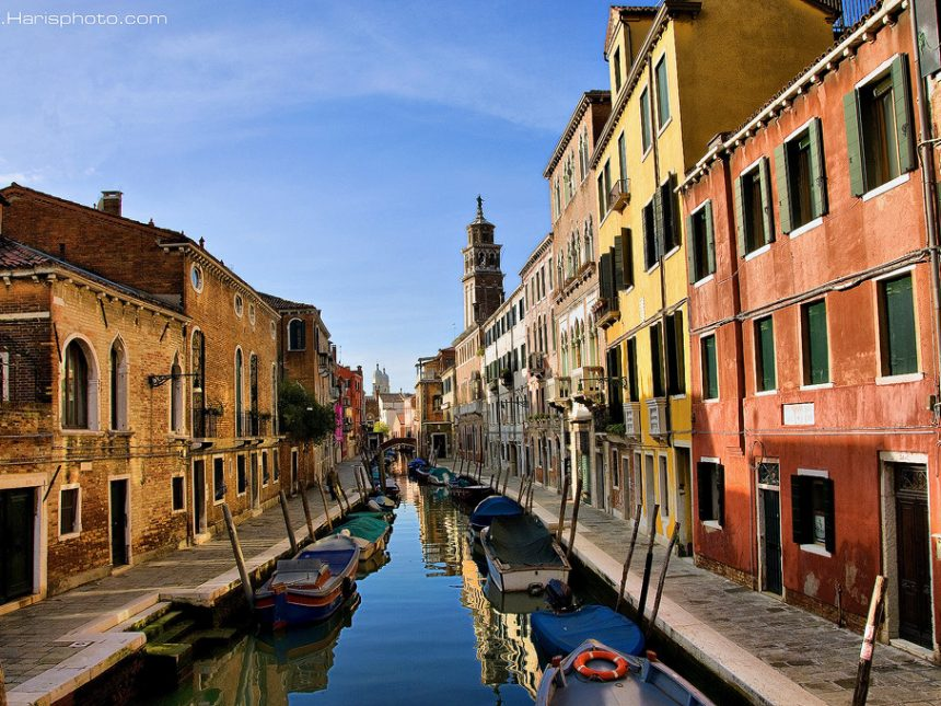 Colorful buildings at Venice