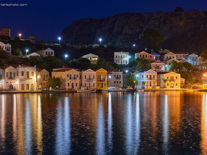 Beautiful Megisti at night