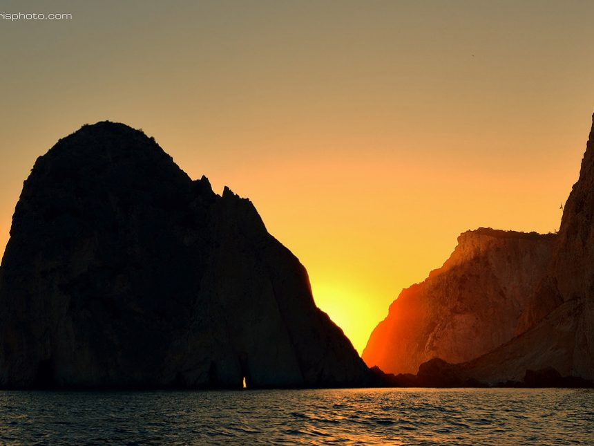 Sunset at Mizithres rocks