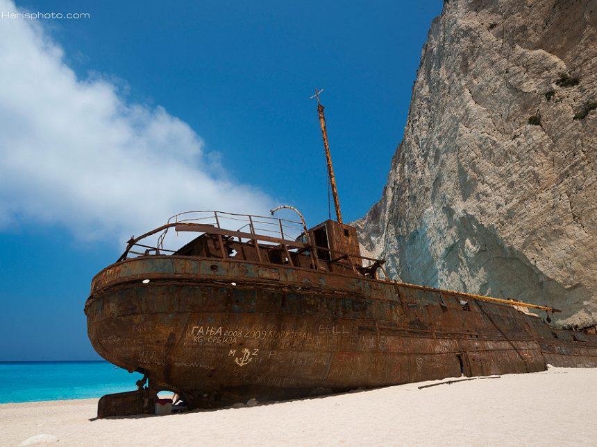 Panagiotis the famous shipwreck,navagio beach