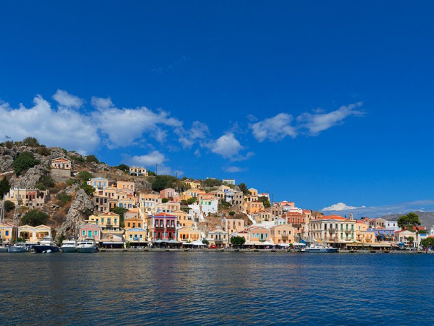 Panoramic view of Symi