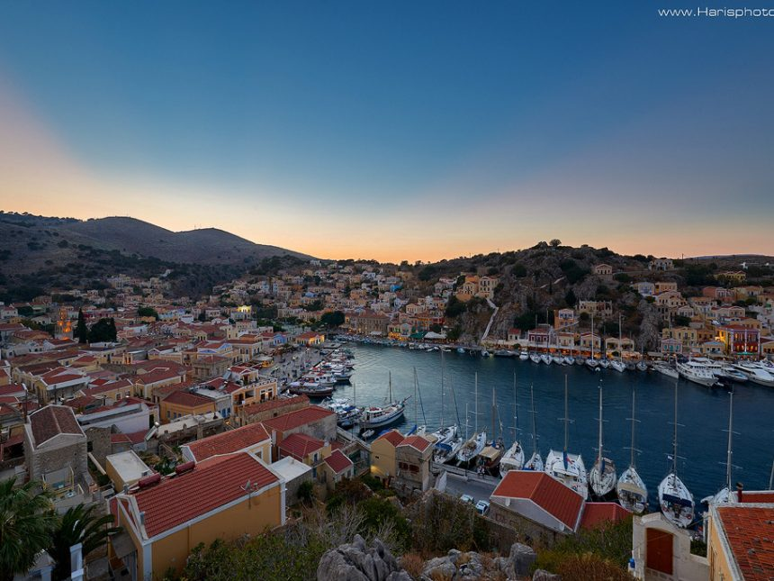 Sunset at Symi