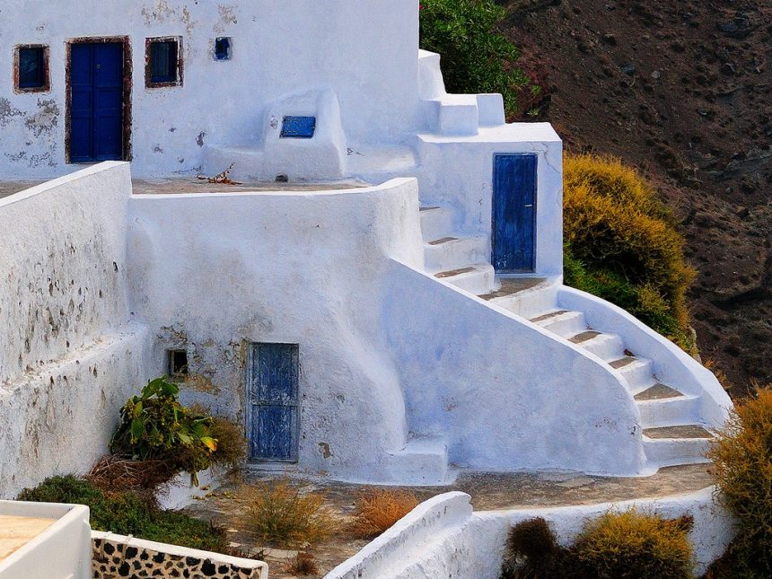 Traditional cave houses at Oia