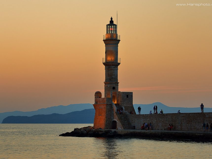 The famous lighthouse at Chania