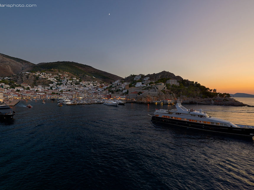 Yachting life at Hydra island